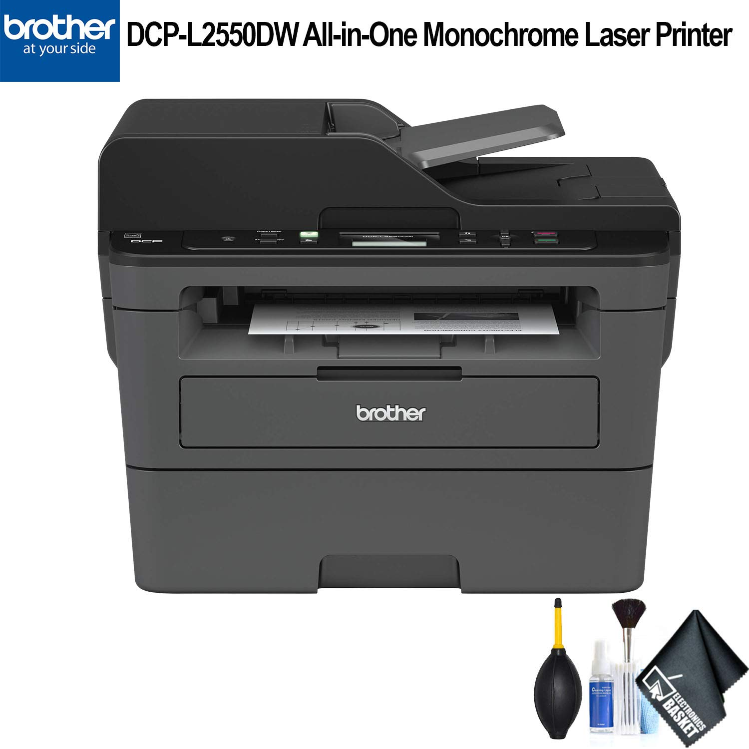 Brother DCP-L2550DW All-in-One Monochrome Laser Printer (DCP-L2550DW) Essential Bundle by Brother (Image #1)