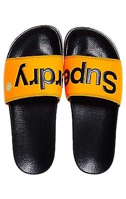 076234340b2b57 Superdry Men s s Pool Slide Flip Flops Blue  Amazon.co.uk  Shoes   Bags