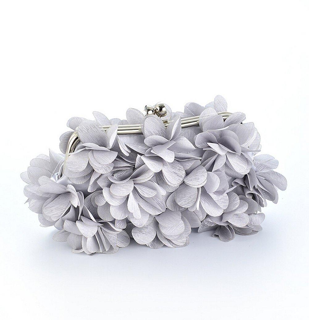 Ladies Elegant Petal Evening Handbags (Silver)