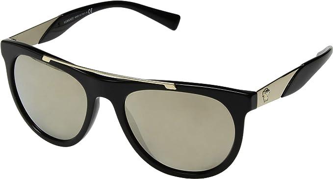 Amazon.com: Gafas de sol Versace VE 4347 GB1/5A, color negro ...