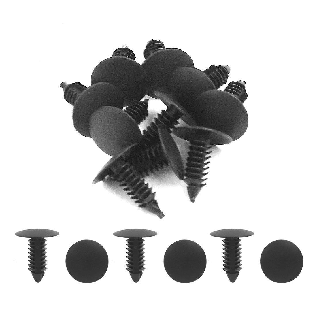 sourcingmap/® 100 St/ücke 6mm od.Kunststoff Sto/ßstangen Befestigung Clip Motorhaube Niet de de