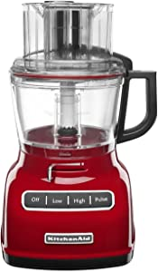 KitchenAid KFP0930ER 9-Cup Food Processor with Exact Slice System and French Fry Disc - Empire Red