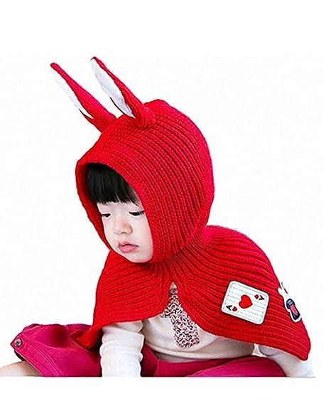 Bã©Bã© Enfants Lapin Oreilles Coton Mignon Tricot Chapeaux ÉCharpe Châ 6bfb42364e2