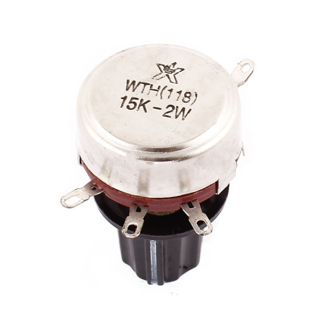 Uxcell a16060300ux0057  WTH118 Rotary Wire Wound Potentiometer 15 K Ohm Adjustable Resistance with Cap