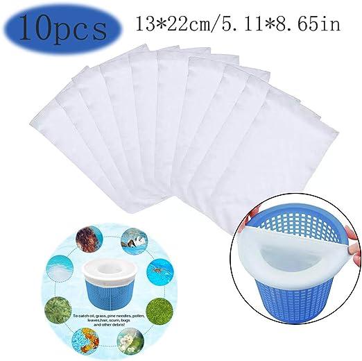 YChoice365 Paquete 10 Calcetines Skimmer para Piscina, Calcetines De Filtro para Piscina Net para Cesta De Skimmer De Filtro, Forro De Malla De Malla Ultra Fina para Cesta De Piscina Conjuntos: Amazon.es: