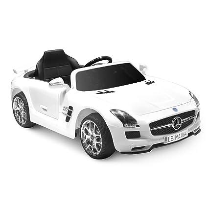 Amazon Com Kid Motorz Mercedes Benz Sls Amg In White 12v Toys