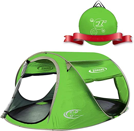 ZOMAKE Pop Up 3-4 Person Family Beach Tent