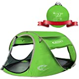 ZOMAKE Pop Up Tent 3 4 Person, Beach Tent Sun Shelter for Baby with UV Protection - Automatic and Instant Setup Tent for…