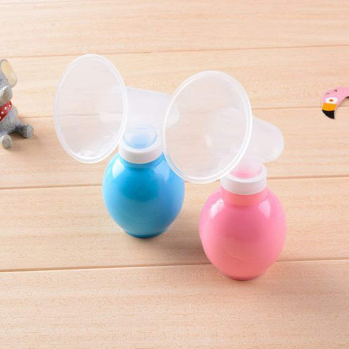 Pandamama Powerful and Simple Manual Breast Pump Silicone Ball Safe and Non-Toxic Silicone Artifact Nipple Suction Container