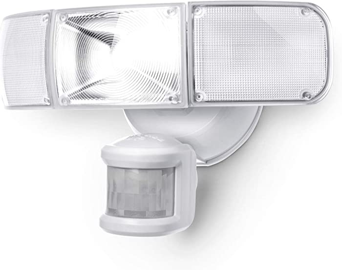 Home Zone Security Motion Sensor Light - Ultra Bright 3 Head Outdoor Weatherproof LED Flood Light
