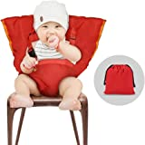 YISSVIC Baby Chair Belt Baby Chair Harness Baby Safety Seat Harness Portable Washable Cloth Red