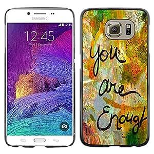 [Neutron-Star] Snap-on Series Teléfono Carcasa Funda Case Caso para Samsung Galaxy S6 [Sono abbastanza Amore Citazione Vernice divertente]