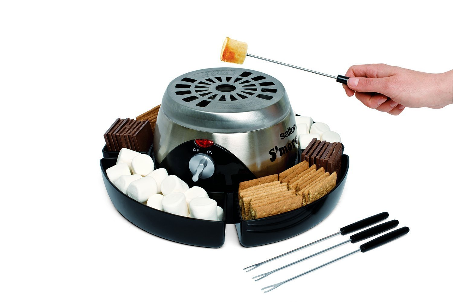 Salton SP1503 Electric S'More Maker, Stainless Steel (3)