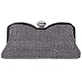 Fawziya® Diamonds Studded Clasp Soft Handbag Wedding Bridal Bag