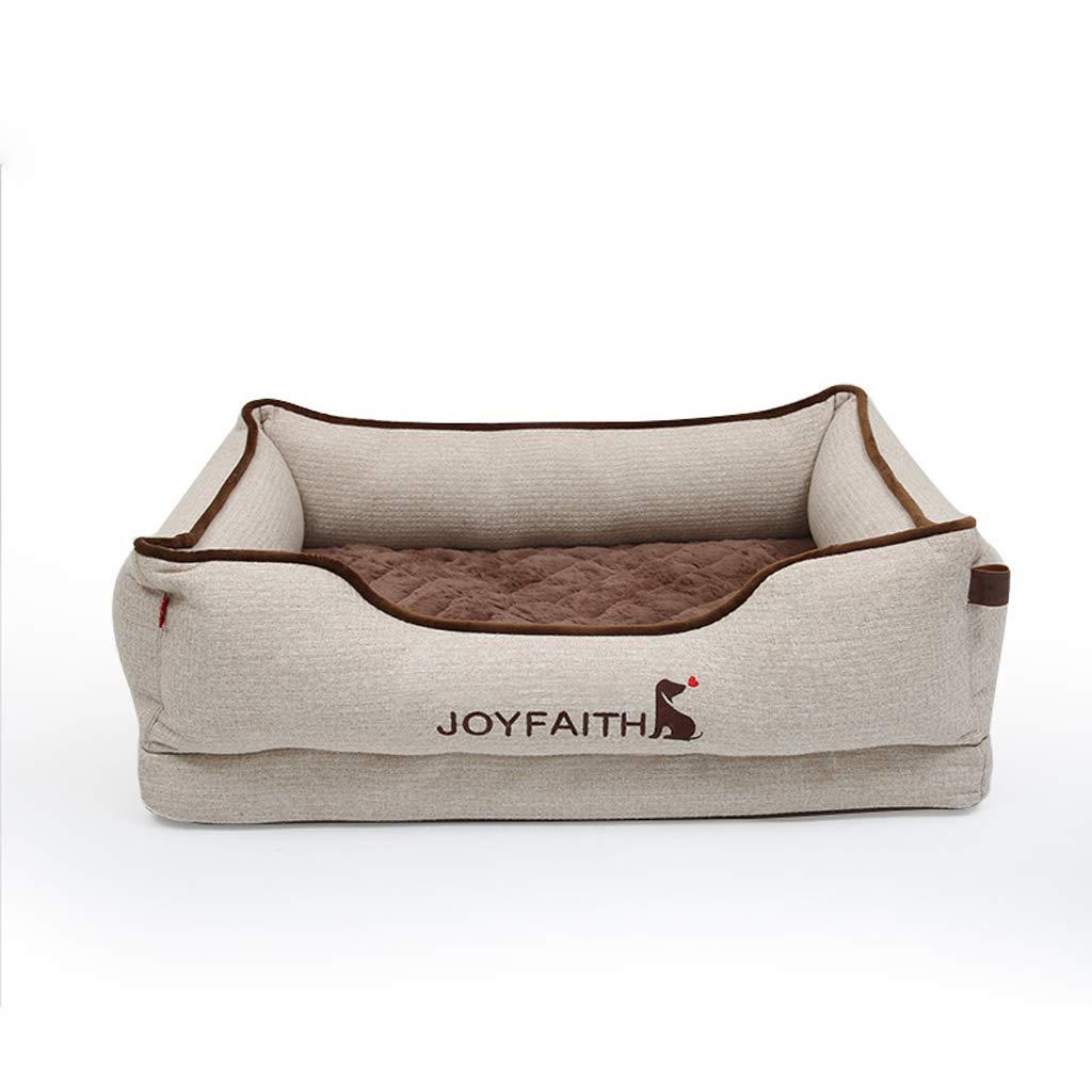 L PLDDY letto da compagnia Pet Nest Sofa, caldo in inverno, rimovibile e lavabile, Ma ne Wasable, Adatto per tutti gli animali Sizes, Pet Supplies keep caldo (dimensione: L)