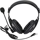 Retevis Walkie Talkie Earpiece Boom Mic 2 Pin Overhead Headphone with VOX PTT Headset Microphone for Baofeng UV-5R BF-888S Re