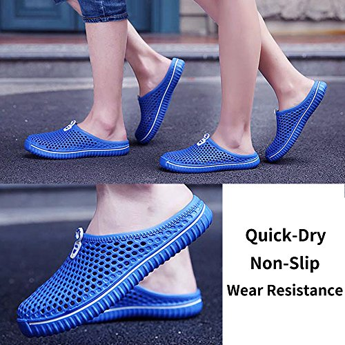Sandals Women Shoes Lightweight Garden Clogs Walking Men Blue Non Slip Dry Quick Slippers UtWP8Ywqgw