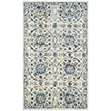 Cheap Safavieh Evoke Collection EVK252C Ivory and Blue Area Rug (2'2″ x 4′)