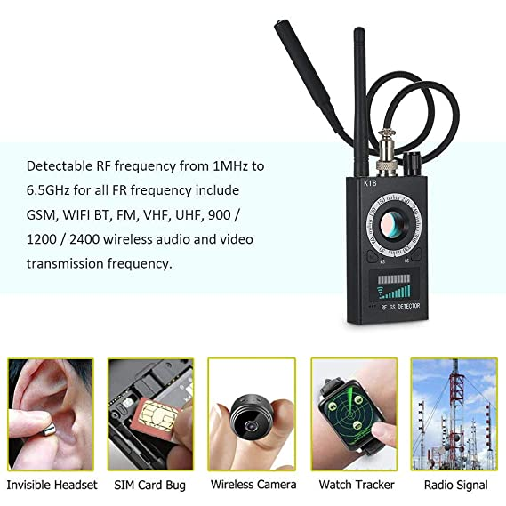Amazon.com : Anti Spy Detector, RF Detector & Camera Finder, Bug Detector, Upgraded RF Signal Detector, LNYOSN GSM Tracking Device for Wireless Audio Bug ...