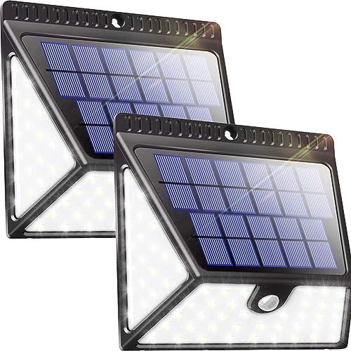 Luposwiten 82 LED Focos Solar Exterior,1640LM Luz Solares, 270°Gran Angular Luces