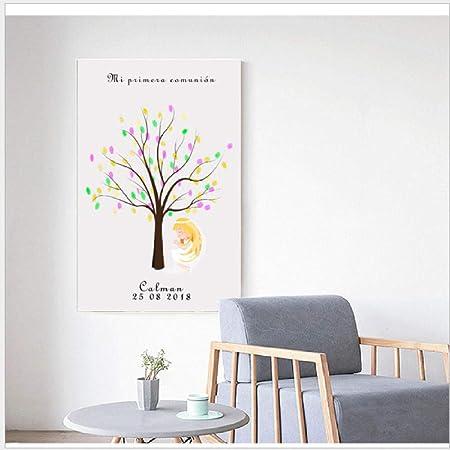 Huella Digital Firma Pintura Árbol Chica Tablero De Mensajes ...