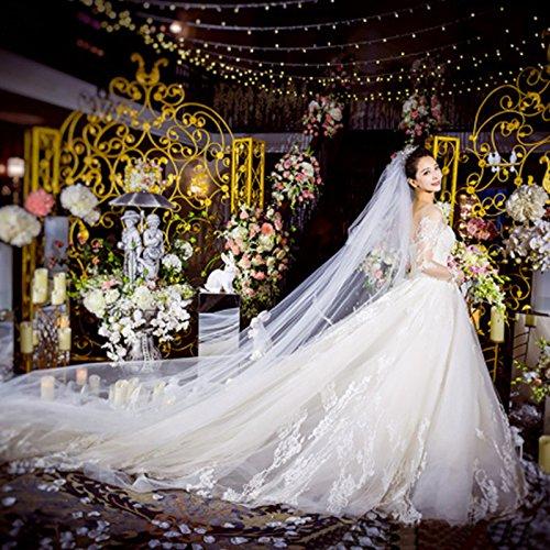 lungo finale Abito a sposa fascia spalla lungo da alta Abito sposa SLR da di da una sposa maniche da lunghe sposa abito trascinamento un sposa awdzSq