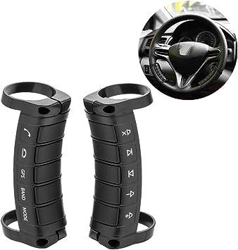 Camecho Universal Multifunktions Auto Dvd Gps Player Drahtlose Fernbedienung Lenkrad Fernbedienungstaste Für Die Navigation Von Fahrzeugen Auto