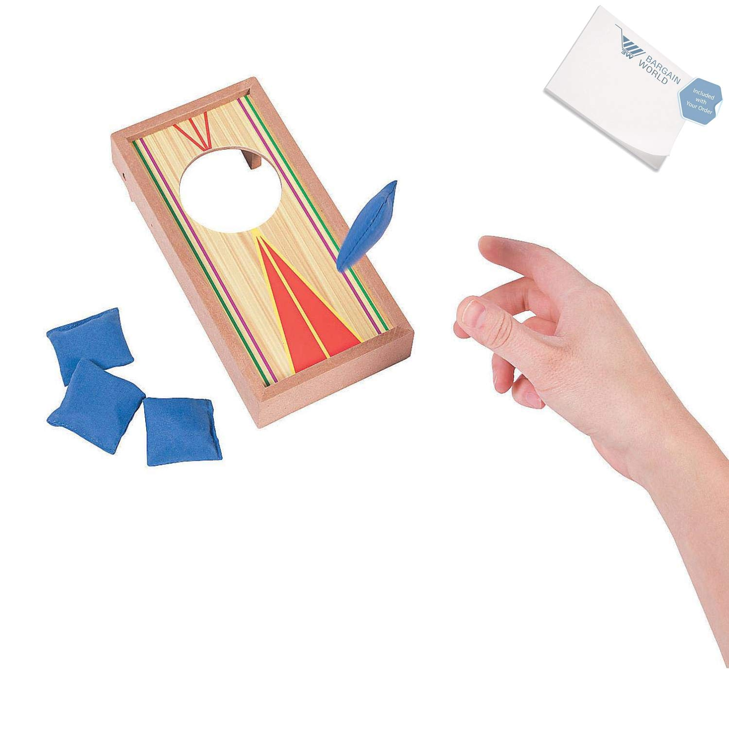 Bargain World Tabletop Cornhole Game (With Sticky Notes)