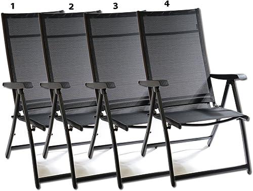 Heavy Duty Durable Adjustable Reclining Folding Chair Outdoor Indoor Garden Pool 4