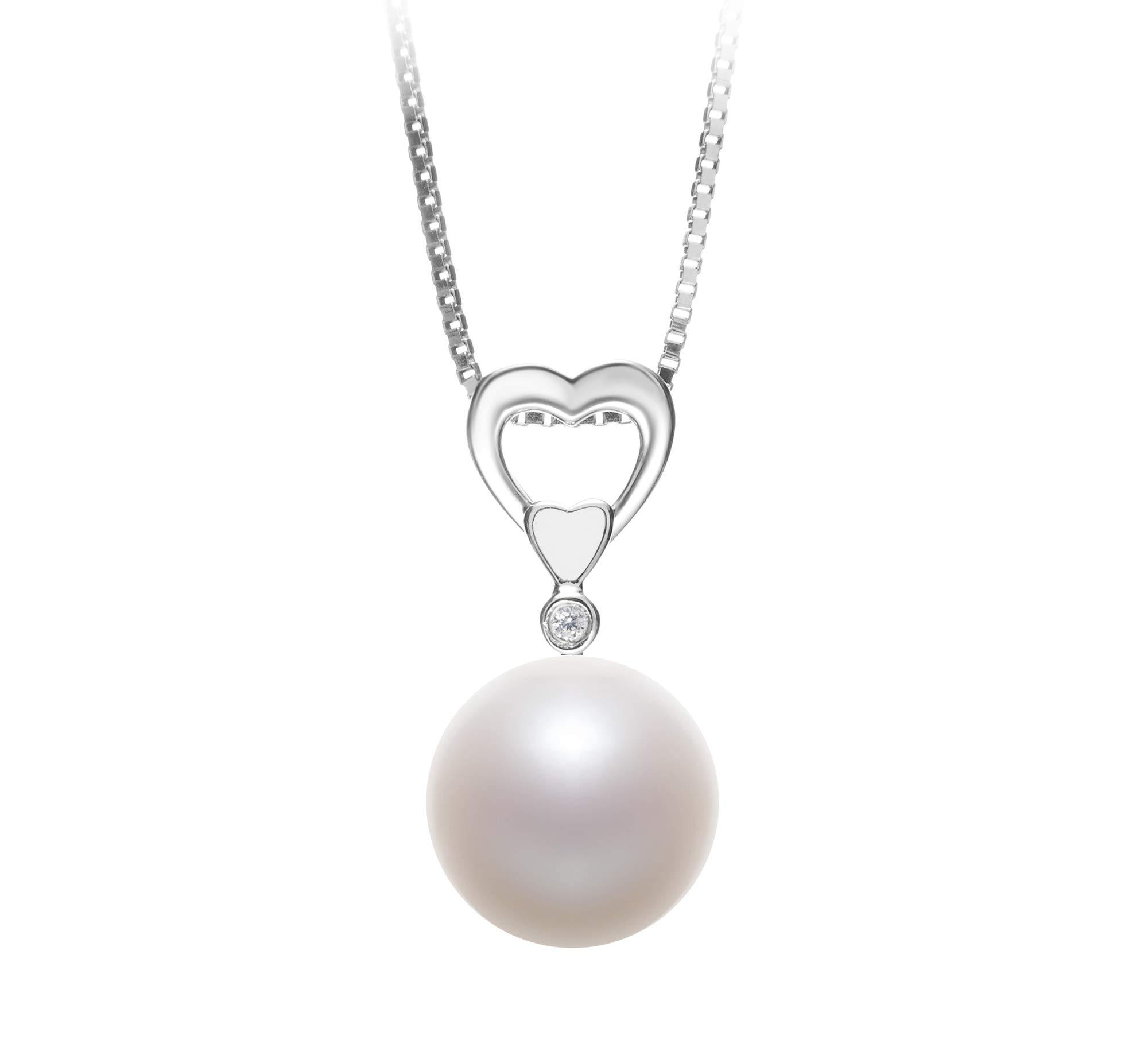 Gabrielle White 10-11mm AAAA Quality Freshwater 925 Sterling Silver Cultured Pearl Pendant For Women