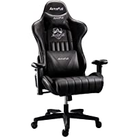 AutoFull Gaming Chair Racing Style Ergonomic High Back Computer Chair with Height Adjustment, Headrest and Lumbar Support E-Sports Swivel Chair,Black