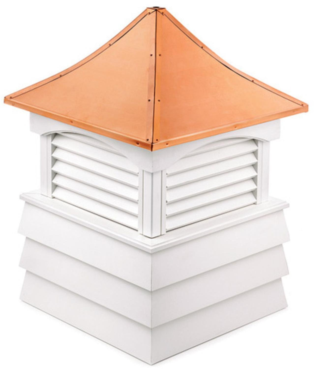 92'' Handcrafted ''Hyde Park'' Copper Roof Vinyl Cupola