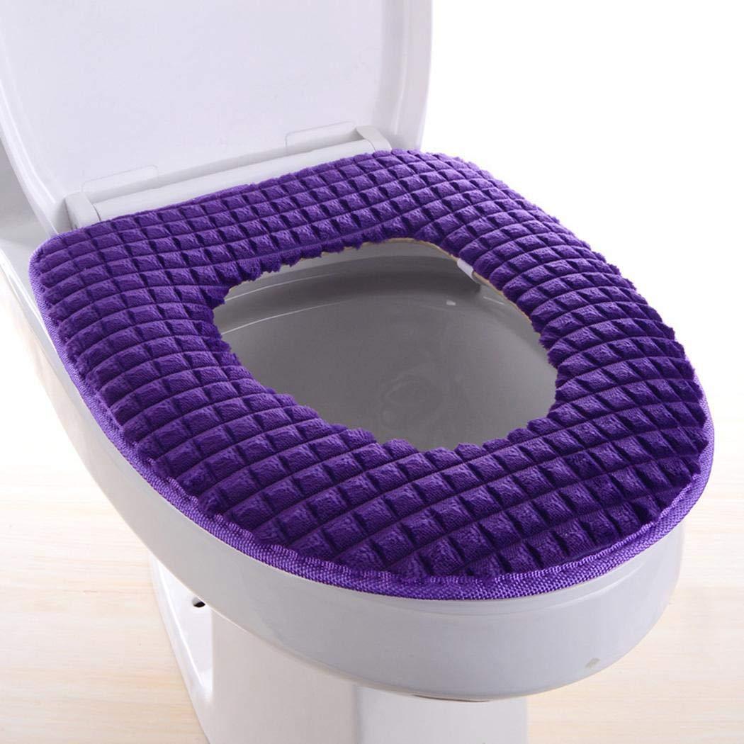rabate Home Fashion Thicken Zipper Warm Winter Toilet Mat Toilet Seats