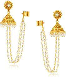 Sukkhi Creative Gold Plated Pearl Earcuff For Women