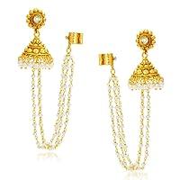 Sukkhi Creative Gold Plated Pearl Earcuff For Women