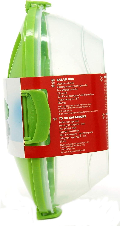 passe au micro-ondes lave-vaisselle et cong/élateur Ernesto Bo/îte /à repas pour salade avec fourchette int/égr/ée et r/écipient /à vinaigrette