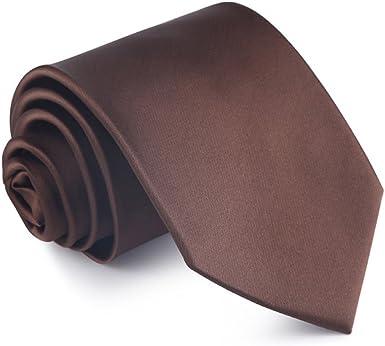 WERLM 8.5 cm de color sólido brillante lazo ancho negocios vestido ...