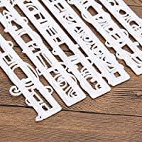 6pcs/set Alphabet Letters Numbers Tappits Frill Edge Fondant Gum Paste Cutters Cake Cookie Baking accessories Mold Stencil Tools Xiaolanwelc