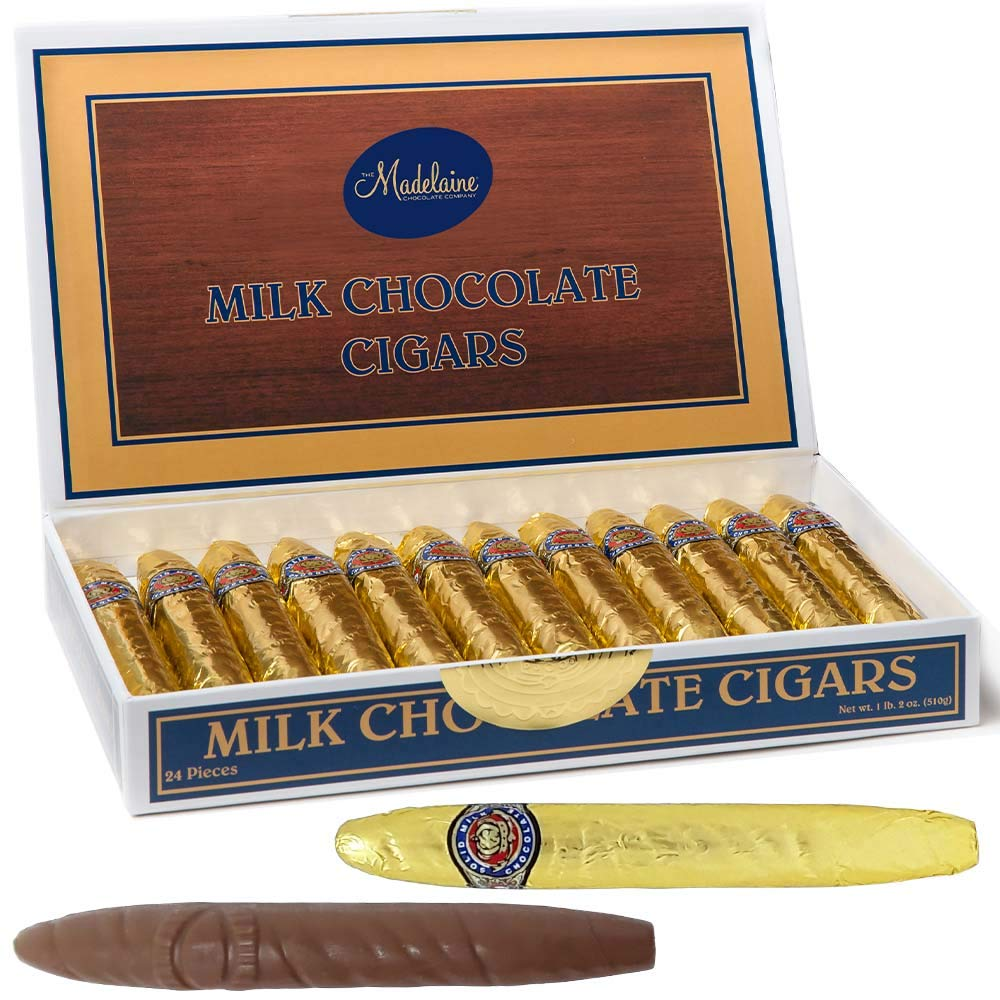 Amazon.com  Chocolate Cigars Gift Box - Madelaine Premium Milk Chocolate Cigars Wrapped In Gold Italian Foil - 24 Cigars  Chocolate Assortments And ...  sc 1 st  Amazon.com & Amazon.com : Chocolate Cigars Gift Box - Madelaine Premium Milk ...