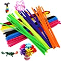 """KINGLAKE 480 Pcs 24 Colors Colored Pipe Cleaners Chenille Stems 6mmx12"""" for Creative Handmade Arts and Crafts"""