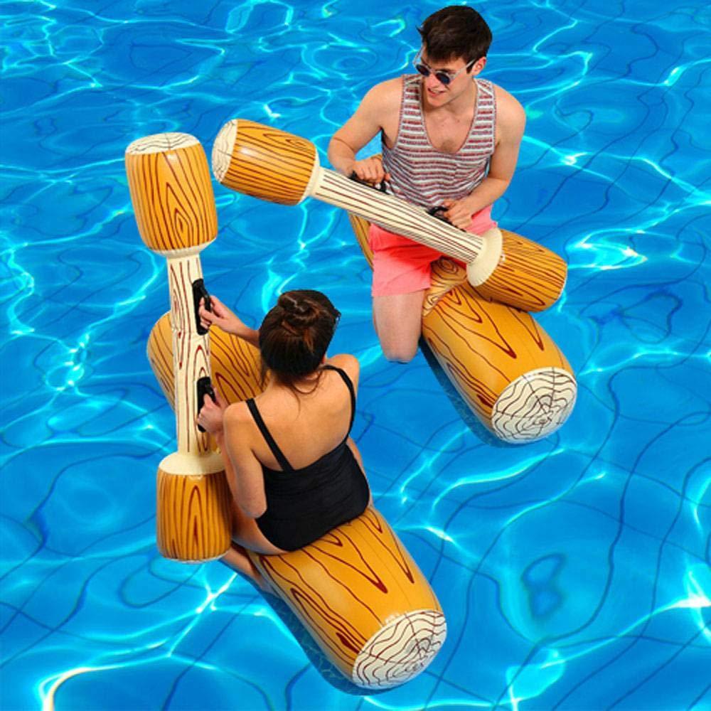 Oofaywfd 4 Pz/set Giostra Piscina Float Gioco Gonfiabile Sport D'acqua Paraurti Giocattoli Per Adulti Bambini Partito Gladiatore Zattera Kickboard Piscina