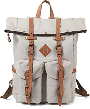 """20/"""" New Large Genuine Leather Back Pack Rucksack Travel Bag Men/'s and Women/'s."""
