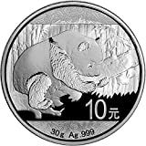 2016 CN China Silver Panda (30 g) 10 Yuan Brilliant Uncirculated China Mint