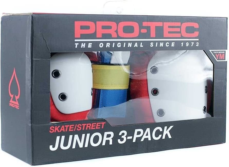Pro-Tec Retro Street Gear Kids Skateboarding Protection Set (Kids S , Red)