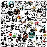 100 PCS Panda Stickers for Laptop, Lorvain Waterproof Vinyl Sticker for Water Bottles Luggage Skateboard Computer Graffiti De