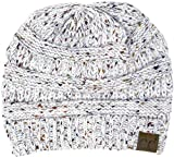 8240b909a2f02 H-6033-25 Funky Junque Confetti Knit Beanie - Ivory