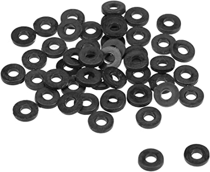 Nylon Flat washers for M4 Screw Bolt 13 mm OD 1 mm Transparent Thickness 50 Pieces