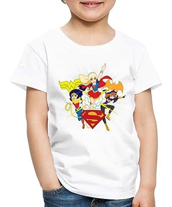 f598a4ce5bc3e Spreadshirt DC Super Hero Girls Wonder Woman Supergirl Batgirl T-Shirt  Premium Enfant, 98