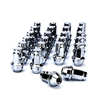 24pcs M14-2.0 21mm Heigh Open end conical lugnuts for Ford Excursion,2000-14 Expedition,2004-2014 F-150,09-14 Lobo,00-13 Transit,Navigator and More Wheels dynofit 14x2.0 aftermarket Wheel Lug Nuts