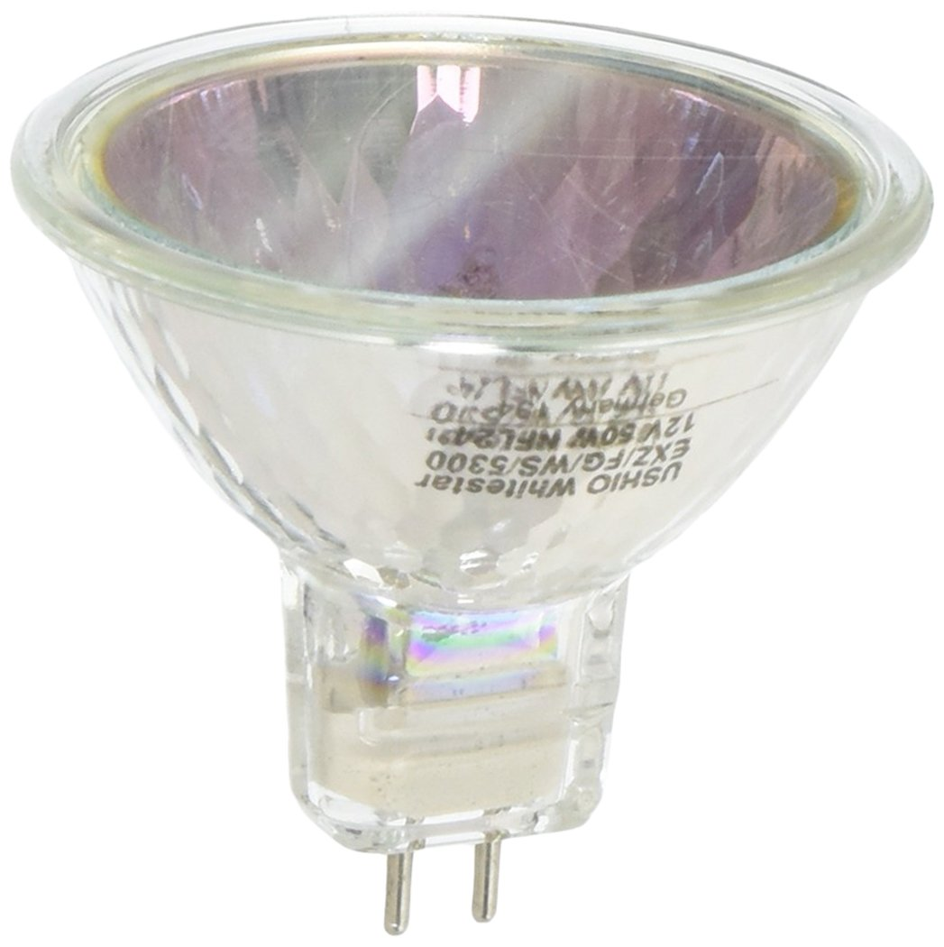 Ushio 1003224 EXZ FG WS 5300 50 Watt 12 Volt Whitestar MR16 Light Bulb 5300K 24 Degree Beam